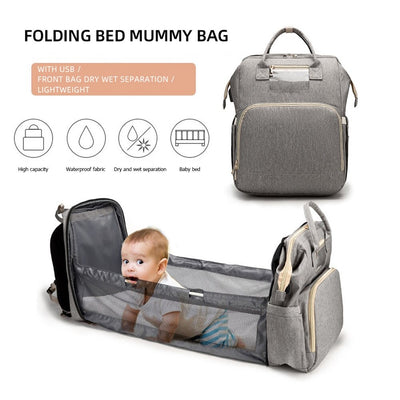 Multifunction baby diaper travel backpack