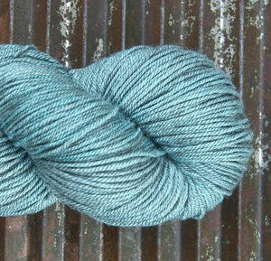 NEW! BEYUL - sw Merino/ Baby Yak / Silk fingering ...'Iceberg' - heathered light turquoise by Kettle Yarn Co.