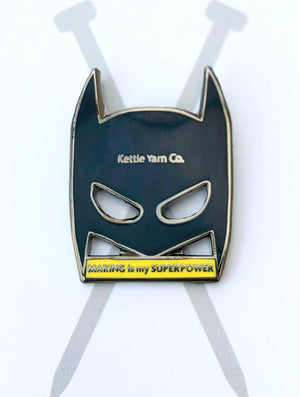 Kettle Yarn Co. Enamel Pin - Making is my Superpower