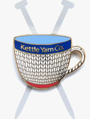 Kettle Yarn Co. Enamel Pin - Cuppa