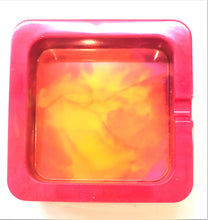 Load image into Gallery viewer, Square Red Yellow and Pink Trinket/Ashtray