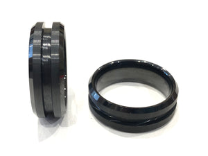 Black Tungsten Ring Core - Inlay