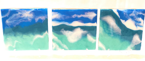 Tile Coasters - Blue Waters