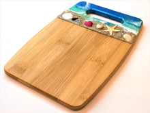 Load image into Gallery viewer, Cutting Board Small #1 - Bamboo with Beach Scene