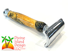 Load image into Gallery viewer, Safety Razor / Chrome - Resin / Black Gold