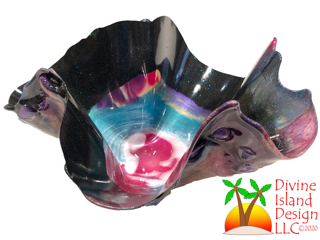 Resin Free Form Bowl - Small Multi Color
