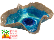 Load image into Gallery viewer, Resin Free Form Bowl - Ocean Themed