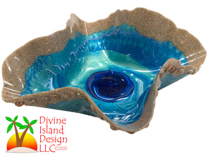 Resin Free Form Bowl - Ocean Themed