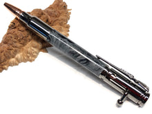 "Load image into Gallery viewer, Bolt Action Ballpoint / Gun Metal - ""Damascus Steel"" Custom Resin"