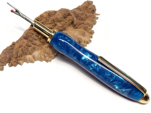 "Seam Ripper / Single Blade - ""Brilliant Blue"" Custom Resin"