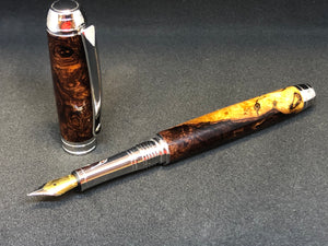 Mistral Fountain / Rhodium - Wood / Honduran Rosewood Burl