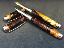 Load image into Gallery viewer, Mistral Rollerball / Rhodium - Wood / Honduran Rosewood Burl