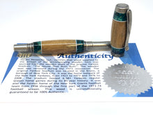 Load image into Gallery viewer, Jr. George Rollerball / Antique Silver - Wood / Segmented Yankee Stadium - Blue Box Elder Burl w/COA