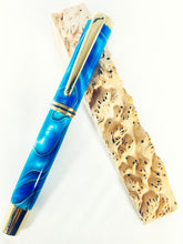 Load image into Gallery viewer, Gentleman Rollerball / Titanium Gold - Caribbean Swirl Acrylic