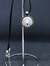 Load image into Gallery viewer, Sand Dollar / Antique Gold Pendant - Black Cord Necklace