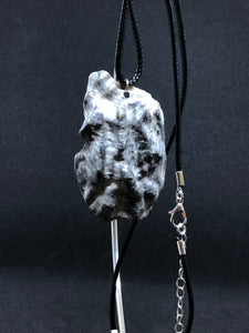 Large Seashell - Black Cord Necklace