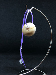 Medium Seashell - Purple Cord Necklace