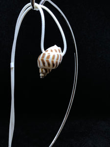 Medium Seashell - White Cord Necklace