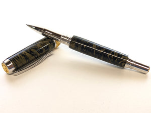 Aaron Rollerball / Rhodium and Gold - Black Gold M3 Metal Composite