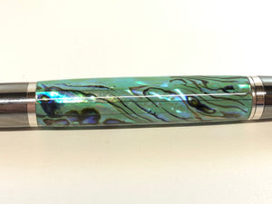 Ares / Black Titanium and Rhodium - Seafoam Green Paua Abalone