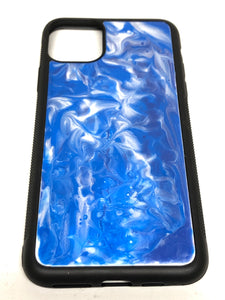 "iPhone 11 Pro Max Phone Case - ""Waves"" Resin"