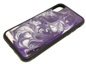 "iPhone X/XS Phone Case - ""Purple Sky"" Resin"
