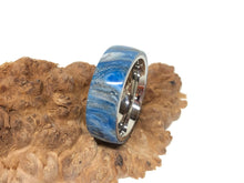 Load image into Gallery viewer, Ring / 8mm Stainless Steel - Resin / DiamondCast Blue, Silver and White - Size 10