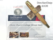 Load image into Gallery viewer, George Rollerball / Antique Brass - Christ Church College/Great Hall Wood w/COA