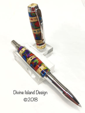Majestic Rollerball / Rhodium and 22kt Gold - Shark Vertebrae and