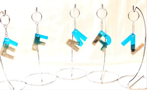 Beach Letter Key Chain