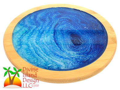 Lazy Susan - Blue Resin Center