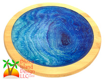 Load image into Gallery viewer, Lazy Susan - Blue Resin Center
