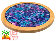 Load image into Gallery viewer, Lazy Susan - Blue and Purple Resin Center