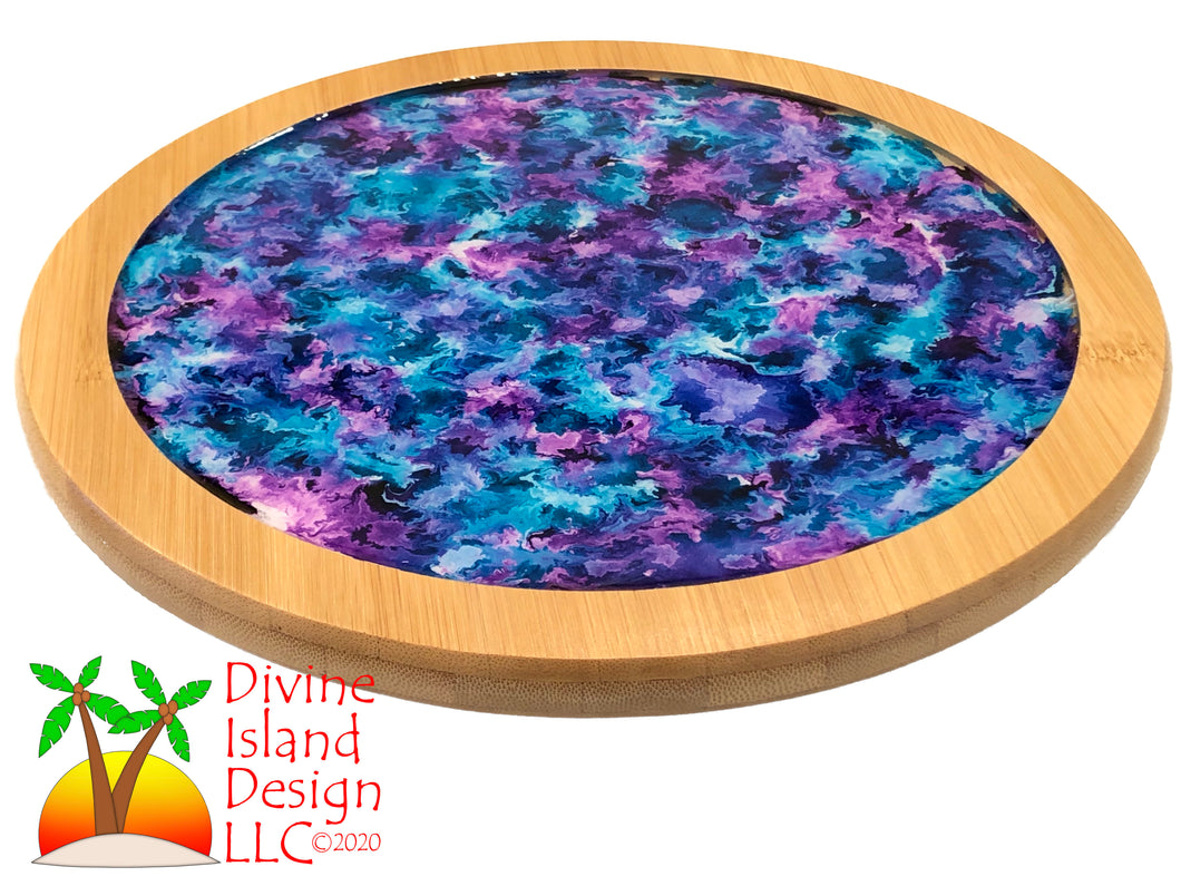Lazy Susan - Blue and Purple Resin Center