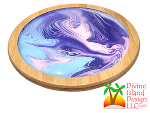 Lazy Susan - Pink, Purple and Blue Resin Center