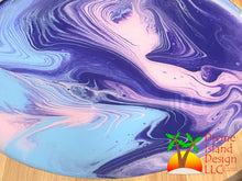 Load image into Gallery viewer, Lazy Susan - Pink, Purple and Blue Resin Center