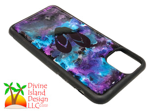 iPhone 11 Pro Max Phone Case - Purple and Blue Resin w/Flip Flops
