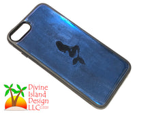 "Load image into Gallery viewer, iPhone 7/8 Plus Phone Case - ""Blue Chrome"" Resin w/Mermaid"