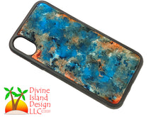 Load image into Gallery viewer, iPhone X/XS Phone Case - Blue, Orange and White Resin