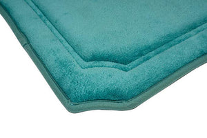 Home 360 Blue Memory Foam Roman Bath Mat (24 x 17 inches)