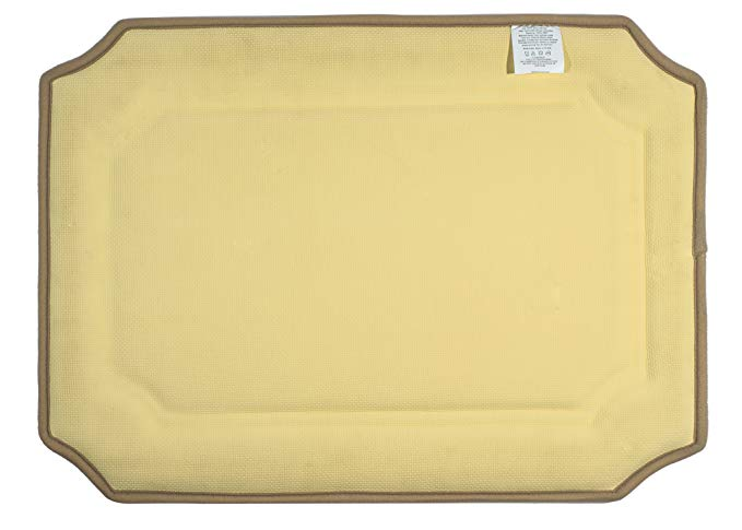 Home 360 Beige Memory Foam Roman Bath Mat (24 x 17 inches)