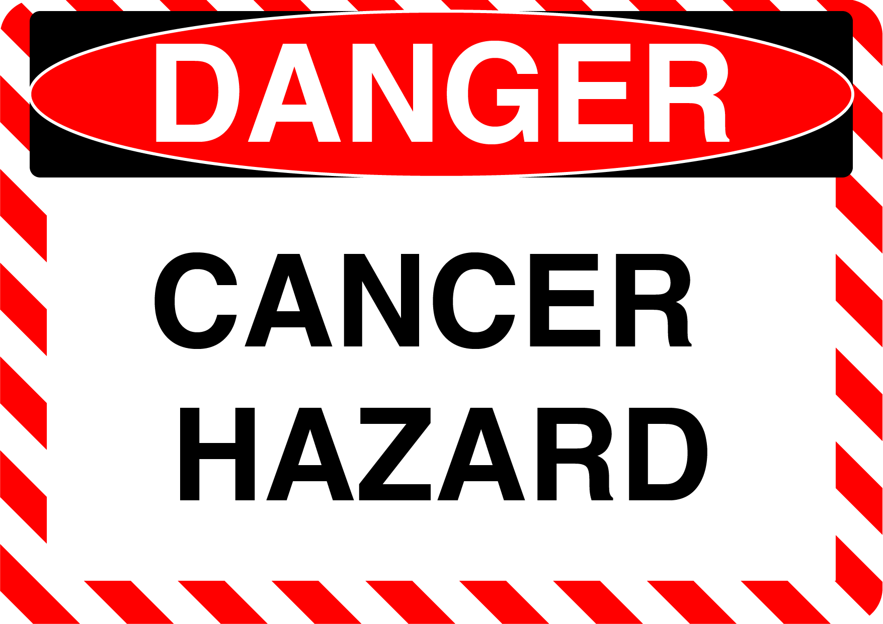 "Danger ""Cancer Hazard"" Durable Matte Laminated Vinyl Floor Sign- Various Sizes Available"
