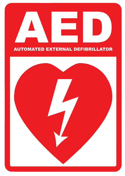 """AED (Automated External Defibrillator)"" Reflective Polystyrene Sign"