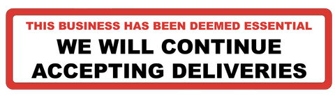 "Image of ""Accepting Deliveries"" Adhesive Durable Vinyl Decal- 24x6"""