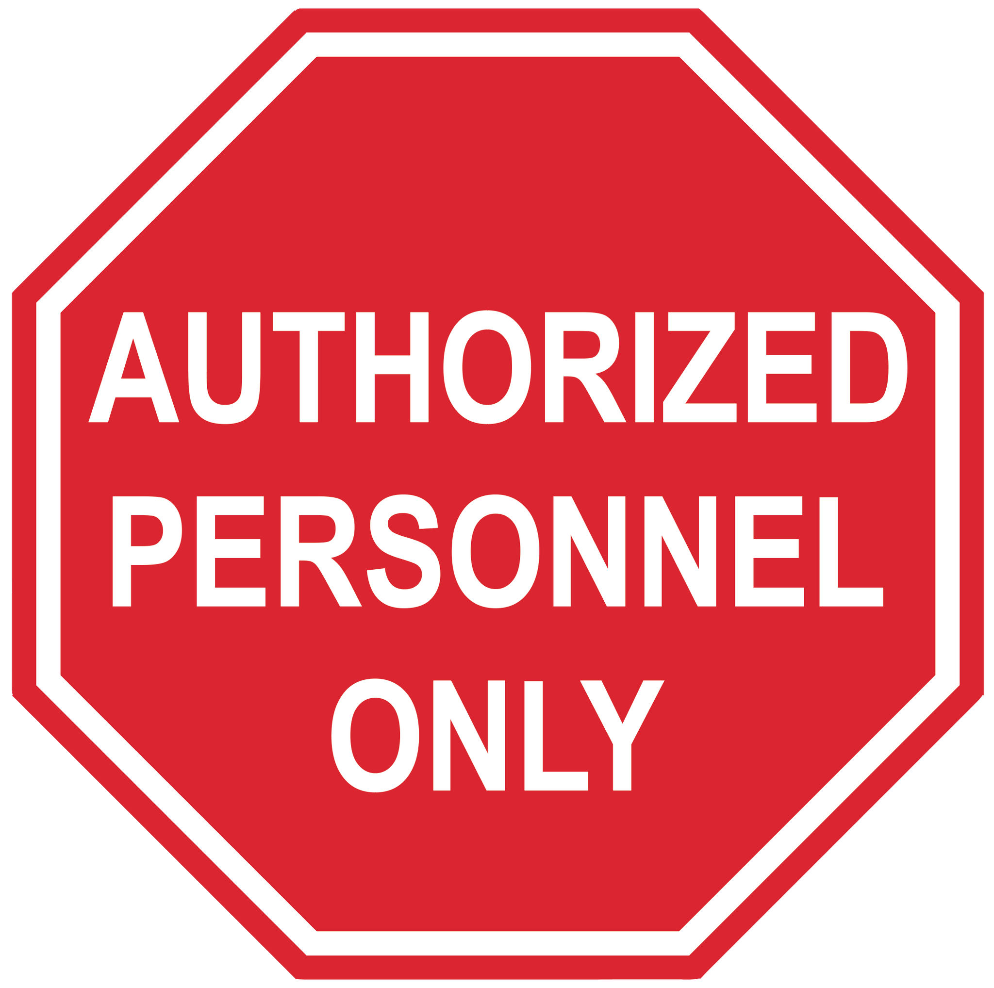 "Stop Sign ""Authorized Personnel Only"" Durable Matte Laminated Vinyl Floor Sign- Various Sizes Available"