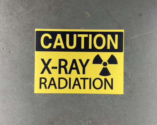 "Caution ""X-Ray Radiation"" Durable Matte Laminated Vinyl Floor Sign- Various Sizes Available"