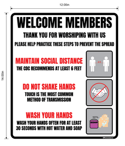 """Church Safe Practices"" Adhesive Durable Vinyl Decal- Various Sizes Available"