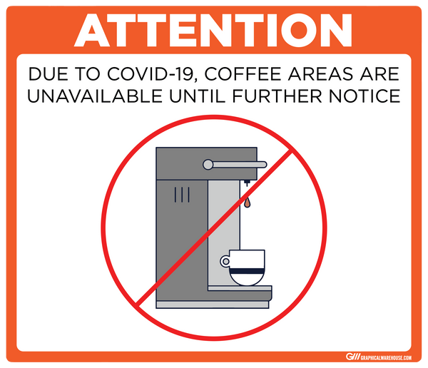 """Coffee Station Closed"" Adhesive Durable Vinyl Decal- Various Sizes/Colors Available"