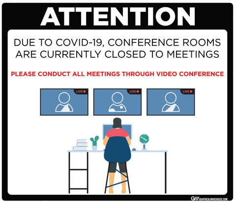 """Conference Room Closed"" Adhesive Durable Vinyl Decal- Various Sizes/Colors Available"
