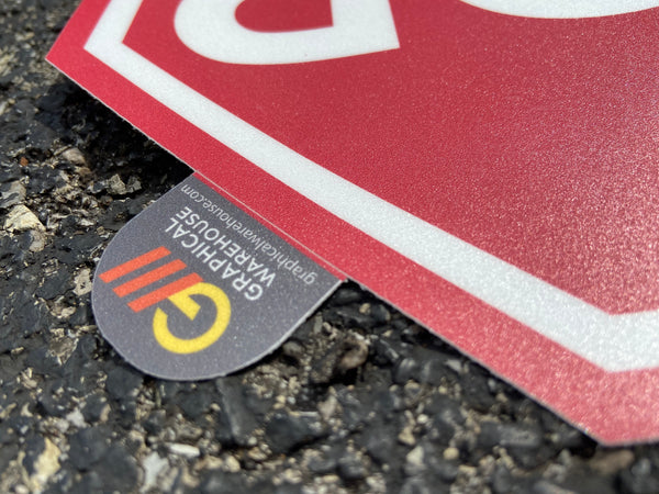 "Warning ""Biohazard"" Durable Matte Laminated Vinyl Floor Sign- Various Sizes Available"